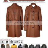 TOP QUALITY LEATHER LONG COAT FOR LADIES, Women Leather Coat for Girls