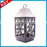 Popular Competitive Price Long Stemmed Metal Hanging Glass Tea Light Hexagon Candle Holder