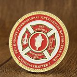Red Knights Firefighters Custom Challenge Coins