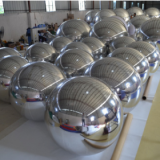 Holidays decorations large hanging pvc gold inflatable mirror ball balloon with wholesale price