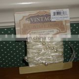 VINTAGE PEARL ON RIBBON GARLAND