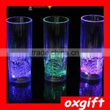 Oxgift Bar special induction luminous flower straight Cup LED Cup / glass colorful luminous wine wine cup discoloration Cup