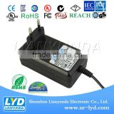 Shenzhen manufacturer Switching AC/DC power adapter 24v 1a with eu us uk au wall plug