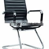 high quality black leather upholstery conference chair