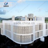 Construction project carve and sculpture sandstone wall panel