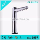 2016 Hot Sales Long Neck Wall Mounted Automatic Shut off Faucet for Kitchen
