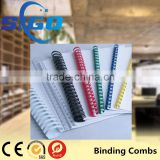 SIGO colored plastic rings plastic book binding comb ring