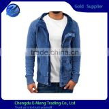 High Quality 2015 Wholesale Cotton Men Cusual Blank Jacket Hoodie for Men