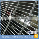 Architectural decorative stainless steel elongated mesh facade woven wire fabric for building