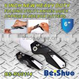 BS-RU0114 folding knife quick change blade box cutter