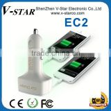 CE Rohs mobile car charger,for Blackberry car charger,portable phone car charger accept OEM