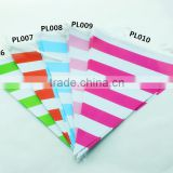 Wholesale Striped Kids Paper Flag, Birthday Party Decoration,Children Birthday Party Banner Flag Bunting