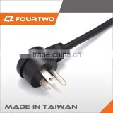 Made in Taiwan high quality power cord for hair straightener,flat electrical power extension cord,european power extension cord