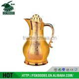 700+1000 ML nice desigh kettle , fashionable, gold like Glass thermos vacuum flask,