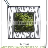 LC-78035 Decorative home decor wrought iron metal wall hanging photo frame                                                                         Quality Choice