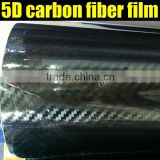 TXD Highest quality glossy black 5d carbon vinyl film with air free bubbles 1.52*20m/Roll