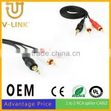 Multi-media hdmi male to 3 rca video audio av cable audio cable for Mobile Phone Speaker MP3