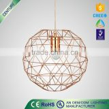 High Quality led bird cage European Vintage Metal pendant lamp light Copper Color                                                                                                         Supplier's Choice