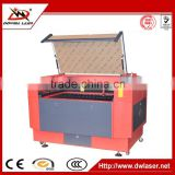 Dowell9060 double head DP and CO2 powerful laser engraving machine /laser cutting and engraving machine for double color board