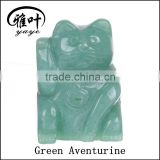 Wholesale Customized 2 inch Gemstones Maneki Neko Statues Crystal Fortune Cat Carving Gifts