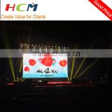 Audio & Visual Aluminum Slim and Light weight LED video Display screen wall for stage