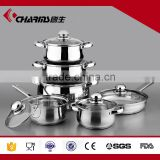 induction cookware professional 12 pcs stainless cookware set