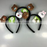 Cosplay Cute Hair Hoop Animal Head Plush Hair Band For Promotion