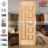 JHK-010 New 2016 Top Sale Design Cheap Interior Molding Office Natural Brich Veneer Skin Door Material Factory