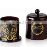 luxury scented candle with glass bell jar dome                                                                                                         Supplier's Choice