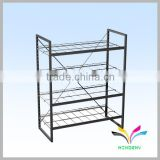Adjustable powder coated durable tire storage rack