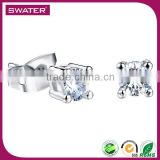 Manufacturer China Plain Silver Cz Stud Earring