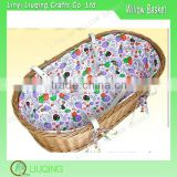 Wicker Baby Pram Basket ,Baby Wicker Moses Basket Fabric Lined Willow Basket