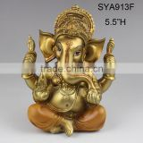 Polyresin gold ganesha idol statue for sale