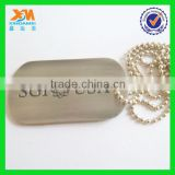 China factory supply silver ball chain dog tags