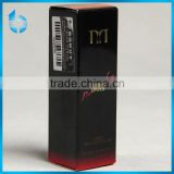 Art paper printed red inside with glossy lamination package box for the true color image lipstick