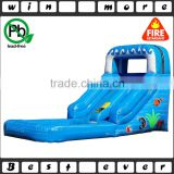 factory price kids toy mini ocean used commercial grade inflatable water slide, inflatable water park with pool for sale