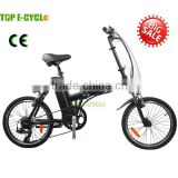 Top E-Cycle Steel Frame Mini Folding Cheap Adult 20inch Chinese KENDA Tire Electric Motor Bike