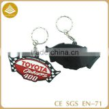 Guangzhou factory custom made 3d pvc keychain/ turbo keychain/ keychain made in china