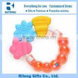 New Style Food Grade Baby Rattle And Teether