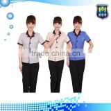 Fashional design long/short sleeves hotel receptionist uniforms, housekeeping beauty salon uniform