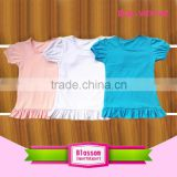 Hot Sale 2016 New Short Sleeve T-Shirts baby girl's Cotton T-Shirts, custom plain children clothing