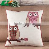 2015 cartoon owl the embroidery cotton and linen pillowcases creative home cloth art sofa cushion cover