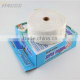 White Cloth Fiber Thermo Tec Exhaust Wrap