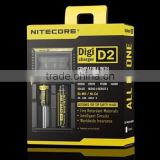 New Arrival Nitecore D2 charger IMR/Lifepo4/NiMh/NiCd AA AAA battery charger nitecore charger