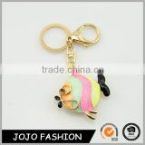 Fashion colourful fish shaped keychain,metal keychain hook/