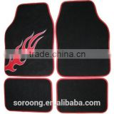 Wholesale Red Blue Flame Carpet Car Mat for Europe Market                                                                         Quality Choice