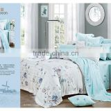 Fashionable 100% Tencel Bedding set King Size 4PCS Jacquard bed sheet/duvet cover/pillow case