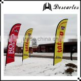 Outdoor winter decorative promotional beach flags, advertising feather flags and banners for sale