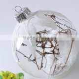 China Mouth Blown Wholesale Tree Branch Inside Glass New Christmas With Ball Decoration/Glass Ball Gift with aluminum cap