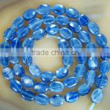 Natural Blue Kyanite Flat Oval Beads 15.5""